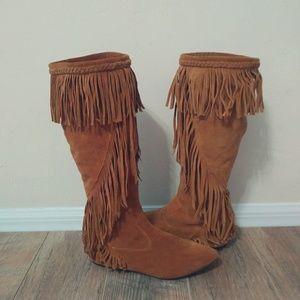 Sam Edelman Uri Fringe Thigh-Hi Boots WesternStyle